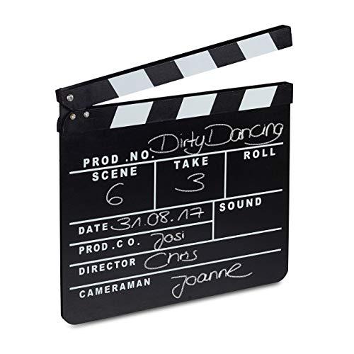 Relaxdays Filmklappe Holz, Regieklappe,...