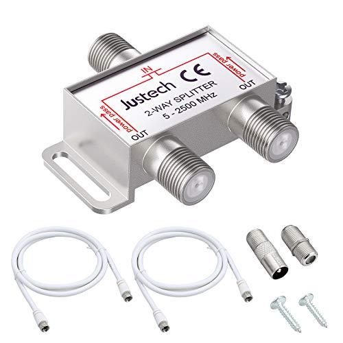 2-Fach TV Radio F-Stecker Adapter Kabel Antennen...