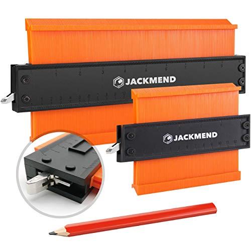 JACKMEND 2-in-1 Konturenlehre - 5 & 10-Zoll, mit...