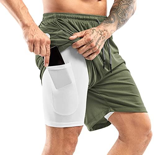 Yidarton Shorts Herren Sport Sommer 2 in 12 Kurze...