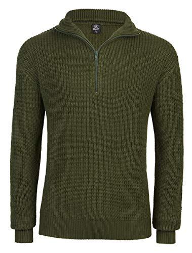 Brandit Marine Pullover Troyer - Oliv - Größe...
