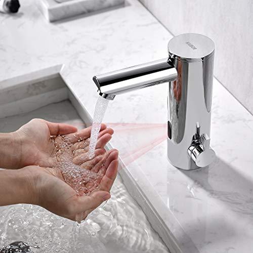 KAIBOR Infrarot Sensor Wasserhahn Bad, Chrom...