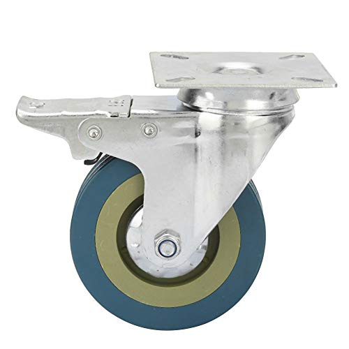 MOH Rad Trolley Wheel -4 Stück Gummi Stahl Gelber...