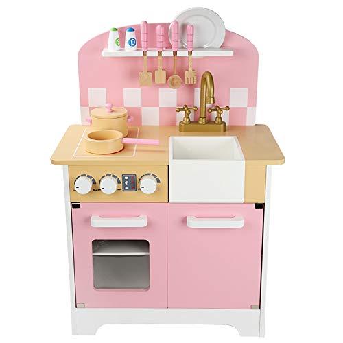 OUPAI Häuser für Modepuppen Spielküche aus Holz...