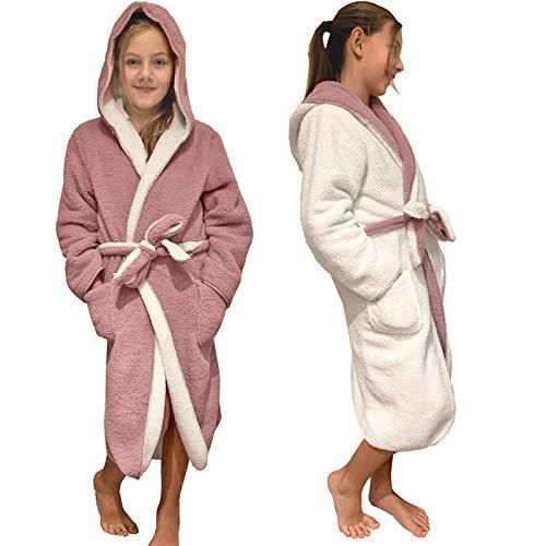 HOMELEVEL Kinder Bademantel mit Kapuze für Jungen...
