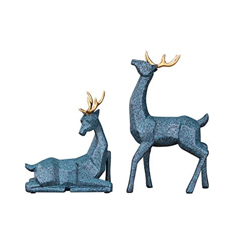 ZLBYB Geometrisch Harz Deer Statue Moderne...
