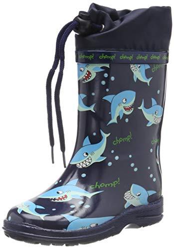 Beck Jungen Sharks Gummistiefel, Blau (Dunkelblau...