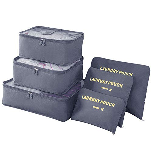 Vicloon Gepäck Organizer, 6-in-1-Set Koffer...