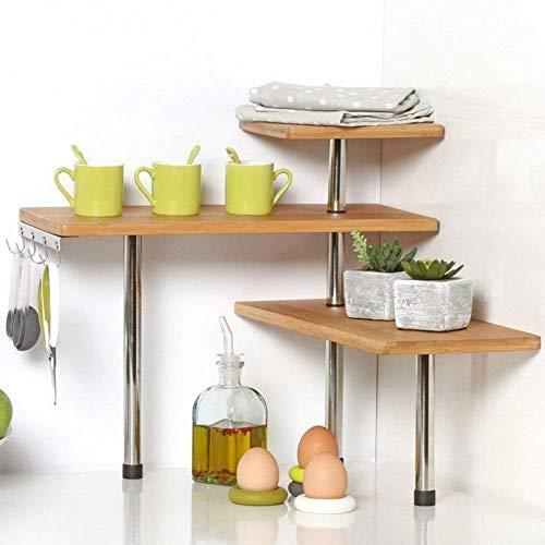 Bakaji Eckregal für die Küche, 3 Regalböden,...