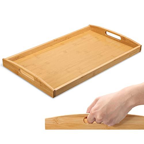 HEIMWERT Tablett Serviertablett Bambus Holz -...
