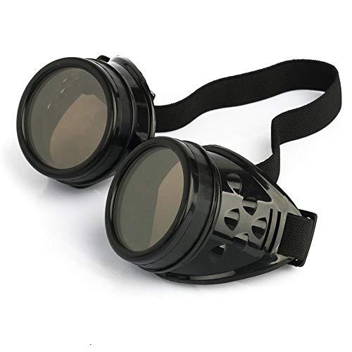 DIVISTAR Vintage Steampunk Brille Brille Cyber...
