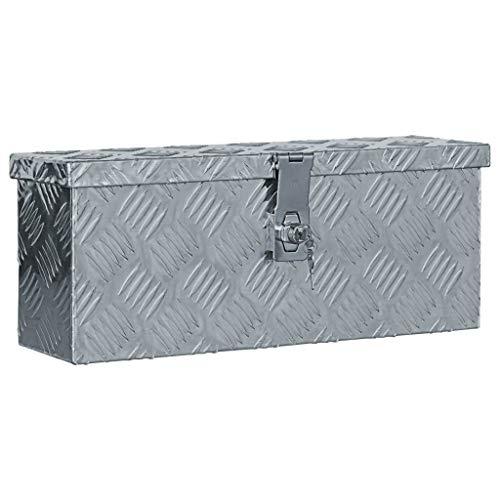 vidaXL Aluminiumkiste Silbern Alubox Aluminiumbox...