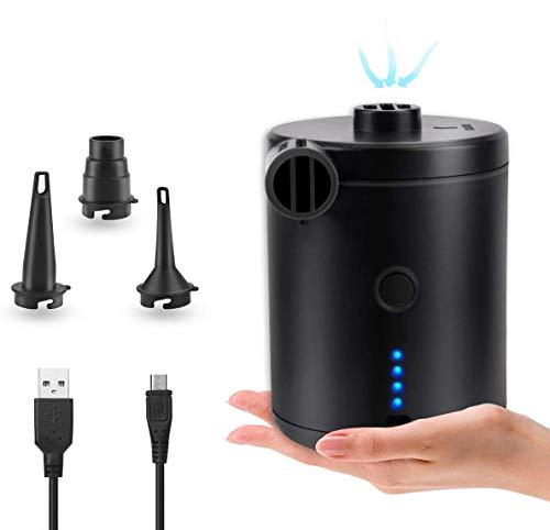 BACKTURE Elektrische Luftpumpe, USB Pumpe mit 3...