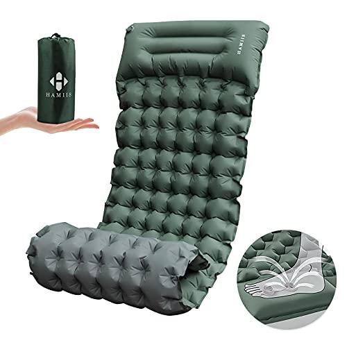 HAMIIS Isomatte Camping schlafmatte mit Fußpresse...