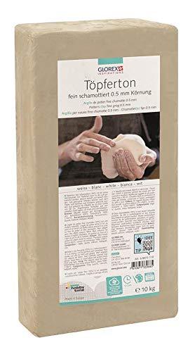 Glorex GmbH 6 8073 110 Töpferton weiß 10 kg,...