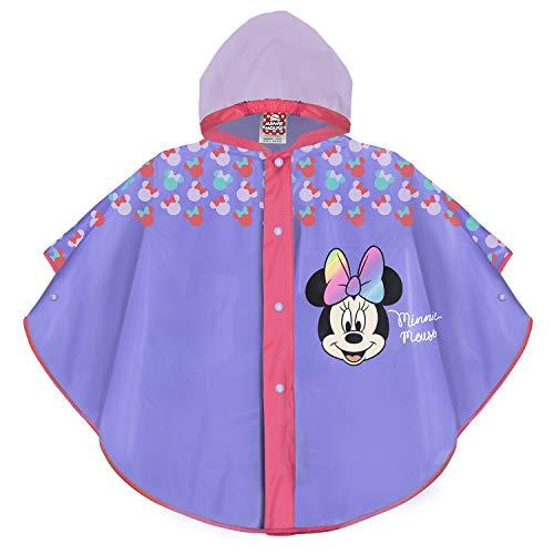 PERLETTI Disney Minnie Mouse Regen Poncho Violett...