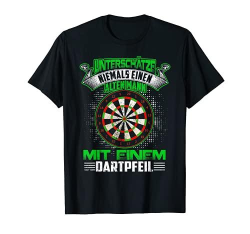 Dart T-Shirt Unterschätze Niemals Einen Alten...