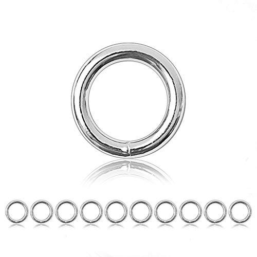 Ganzoo O - Ring Stahl, 10 Stück, 28mm außen,...