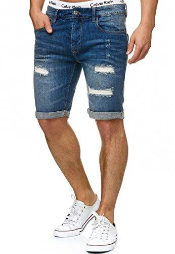 Indicode Herren Caden Jeans Shorts mit 5 Taschen...