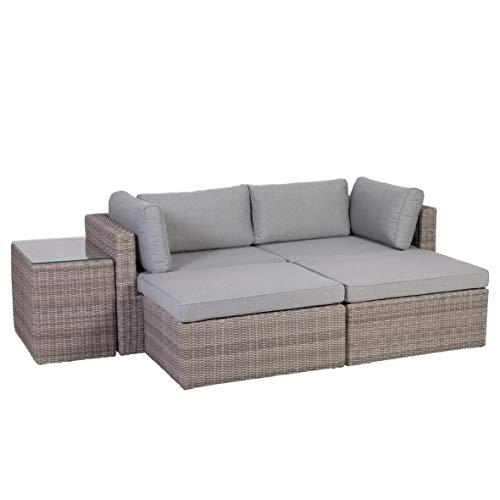 Greemotion 131847 Palma Rattan Lounge-Set, grau