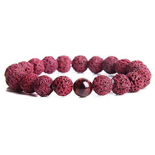 ZMMZYY Stone Bracelet, Natürliche rote Tiger Eye...