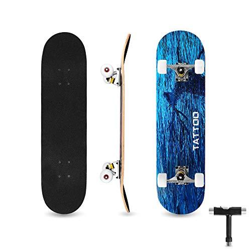 bigzzia Skateboard Komplett für Kinder...