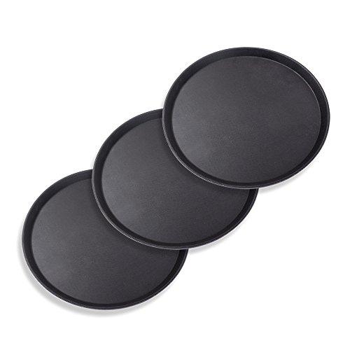 Schramm® 3 Stück Gastro Tablett 35x2cm rund...