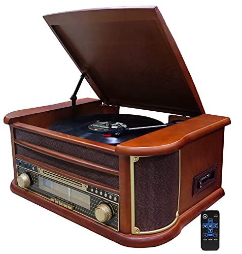 Nostalgie Holz Musikanlage   Bluetooth  ...