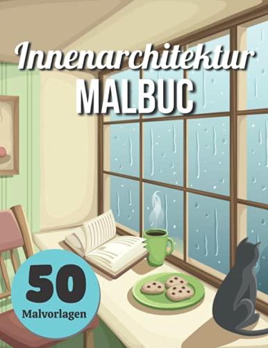 Innenarchitektur Malbuc 50 Malvorlagen:...
