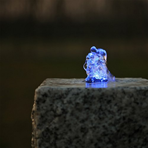 CLGarden Springbrunnen Beleuchtung LED Ring blau...