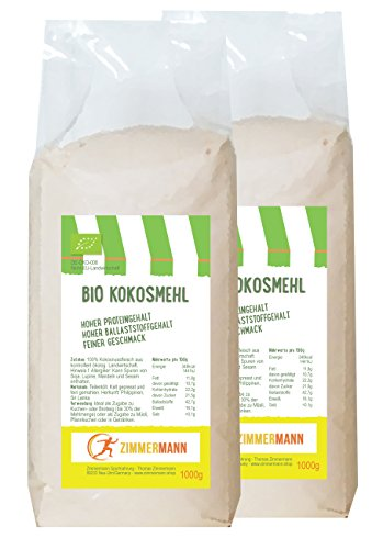 Bio Kokosmehl 2er Pack (2 x 1000g) - Hoher...