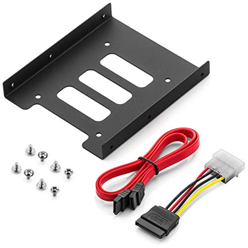 deleyCON Einbaurahmen für 2,5' Festplatten SSD's...