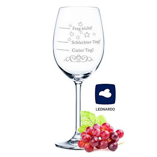 Leonardo XL Weinglas mit Gravur - Schlechter Tag,...