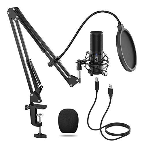 TONOR Q9 USB Mikrofon Kondensator Microphone Kit...
