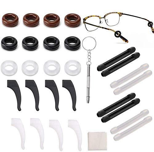 14 Paar Silikon Antirutsch Gläser Ohrhaken...