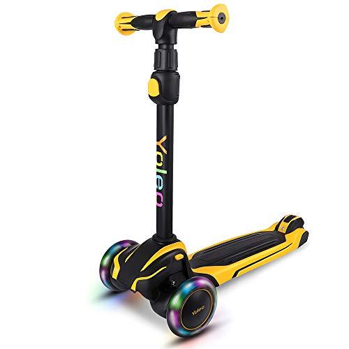 YOLEO Kinder Scooter Roller, Kinder Roller mit LED...