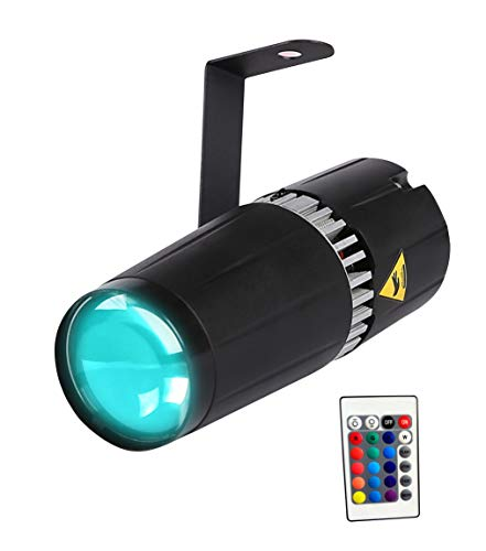 TOM LED 9W RGB 3-in-1 pin spot light - bühne und...