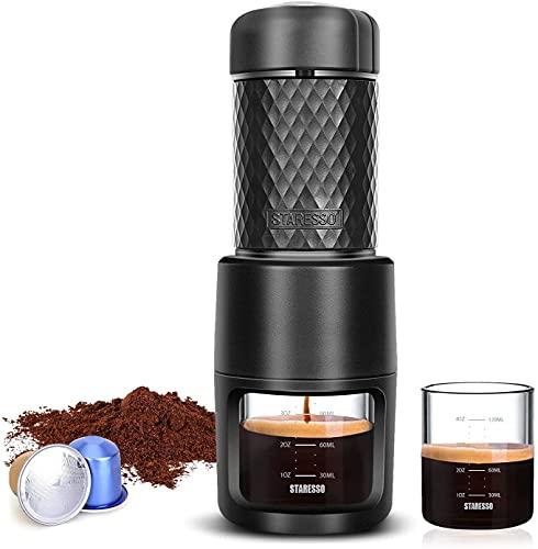 STARESSO Espressomaschine Tragbare Kaffeemaschine...