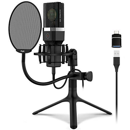 Kungber USB Mikrofon PC Computer Microphone mit...