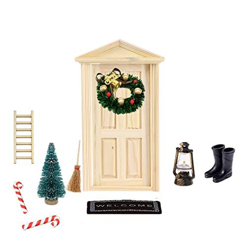 Super Idee Wichteltür Weihnachten Set Miniatur...