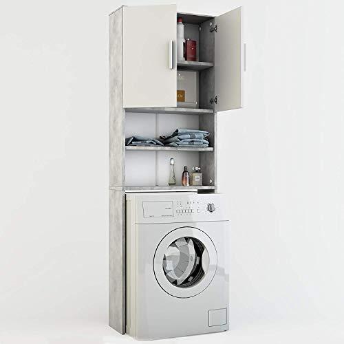 Vicco Waschmaschinenschrank 190 x 64 cm - Badregal...