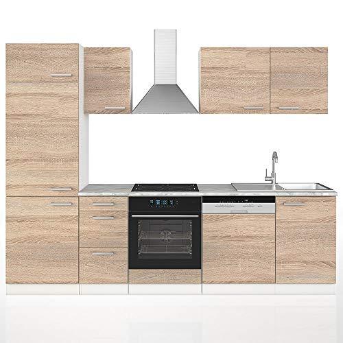 Vicco Küche 270 cm Küchenzeile Küchenblock...