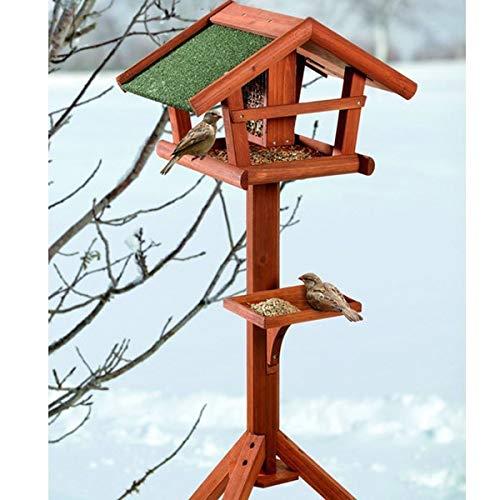 Vogelhaus mit Ständer Holz - wetterfestes...