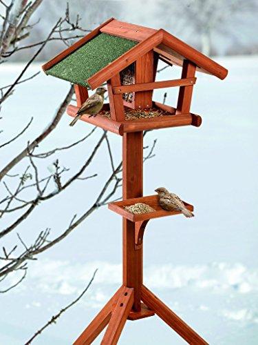 BUSDUGA - Vogelhaus/Futterhaus aus Holz mit...