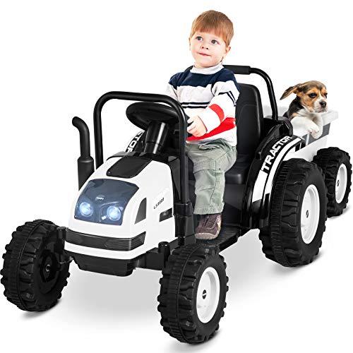 Uenjoy Kinderfahrzeug Traktor mit abnehmbarem...