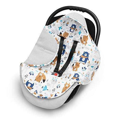 EliMeli EINSCHLAGDECKE für Babyschale Baby Decke...