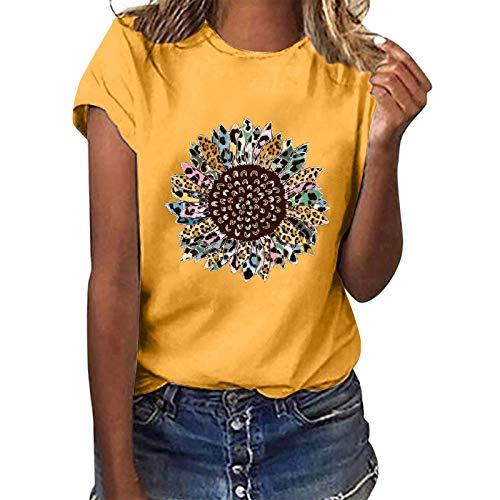 AmyGline Sommer Oberteil Damen T Shirt Top...