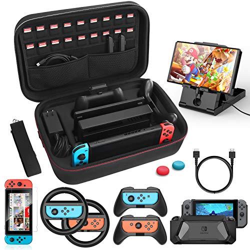 HEYSTOP Tasche Kompatibel mit Nintendo Switch,12...