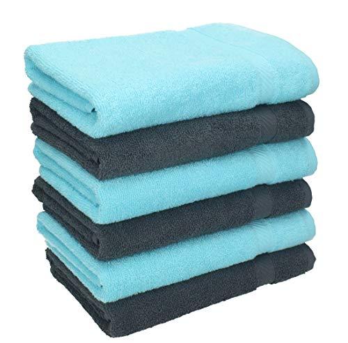 Betz 6 Stück Handtücher Palermo 100% Baumwolle...