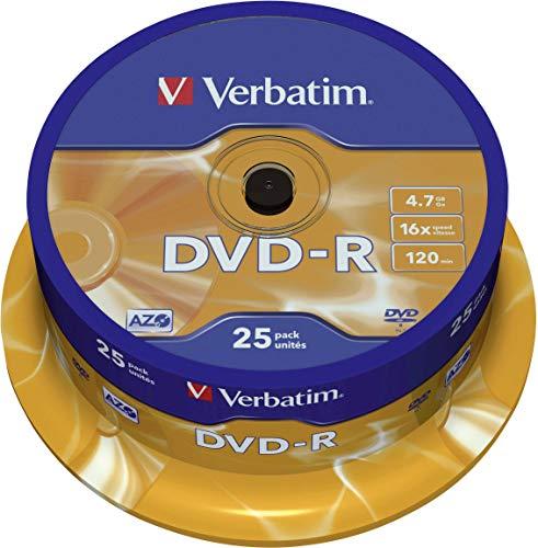 Verbatim DVD-R 16x Matt Silver 4.7GB I 25er Pack...